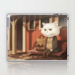 A cat waiting for someone Laptop & iPad Skin