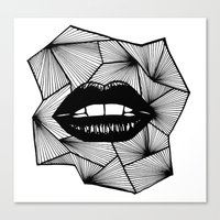 lips Canvas Prints featuring Lips by Aurelie