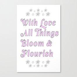Bloom & Flourish Canvas Print