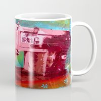 sewing Mugs featuring Sewing Machine by Gabriel Prusmack and Sophia Buddenhagen