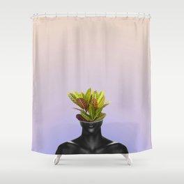 Plant Face (Version 1) Shower Curtain