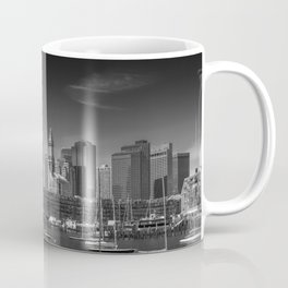 BOSTON Skyline North End & Financial District | Monochrome Coffee Mug