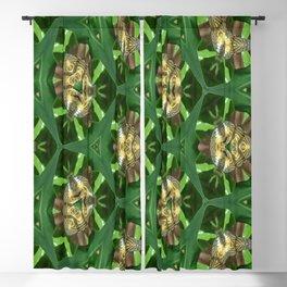 Web of Green Pattern Blackout Curtain