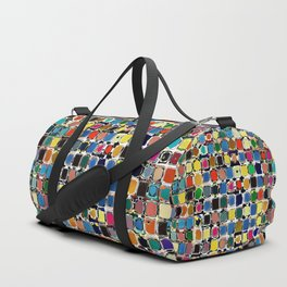 Colorful Rectangles With Texture Duffle Bag
