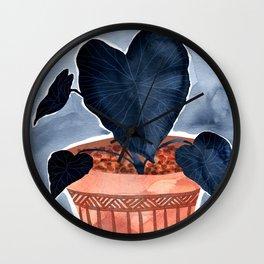 Colocasia Houseplant Wall Clock