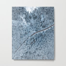 White Forest Print, Snow Austria, Winter Poster, Nature Photography, Wall Art, Minimal Nature Metal Print