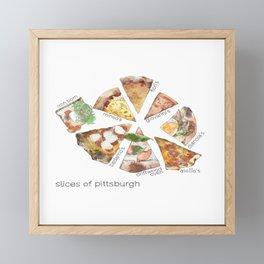 Slices of Pittsburgh Framed Mini Art Print