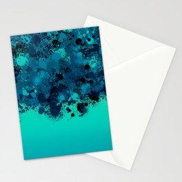 paint splatter on gradient pattern bt Stationery Cards