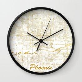 Phoenix Map Gold Wall Clock