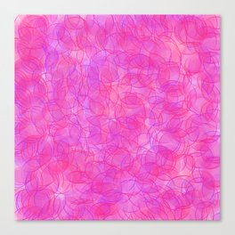 Pink and Purple Dots Canvas Print