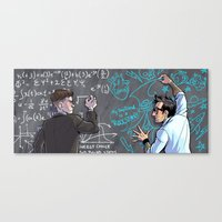 pacific rim Canvas Prints featuring PACIFIC RIM - Blackboard Buds by Kristal Babich