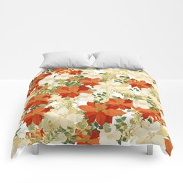 Poinsettia Collage Comforters