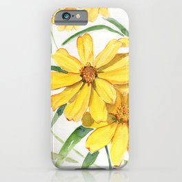 Sunny Flowers Perennial iPhone Case