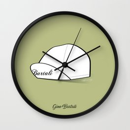 Grimpeur - Bartali cap Wall Clock