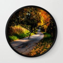 Autumn Dreams. Wall Clock