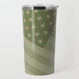 Camo Stars and Stripes – USA Flag in Military Camouflage Colors [FalseFlag 1] Travel Mug
