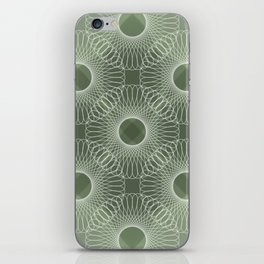 Circled in Shades of Emerald Green iPhone Skin