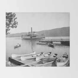 The Sagamore Lands at Roger's Slide Boathouse Throw Blanket