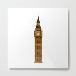 Big Ben Isolated Metal Print