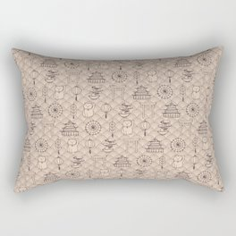 Retro asian pattern Rectangular Pillow