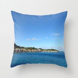 Bora Bora Hilton NUI Bungalows Throw Pillow