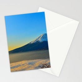 Mt Fuji Volcano Foggy Stationery Cards