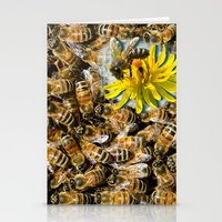 bees Stationery Cards featuring Bees by Moody Muse