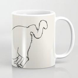 Stretching cat drawing line art Coffee Mug