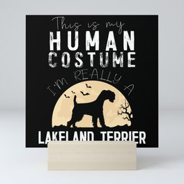 Halloween Human Costume Lakeland Terrier Mini Art Print