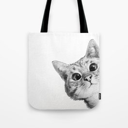 sneaky cat Tote Bag