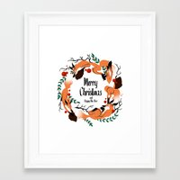 merry christmas Framed Art Prints featuring Merry Christmas by Anya Volk