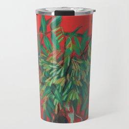 Ash-tree, red and  green Travel Mug