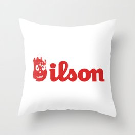 Wilson. Cast away on a deserted remote island Throw Pillow