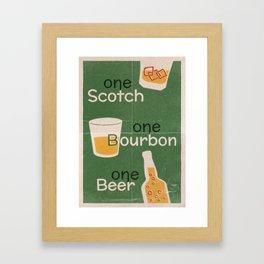 Lindy Lyrics - One Scotch, One Bourbon, One Beer Framed Art Print
