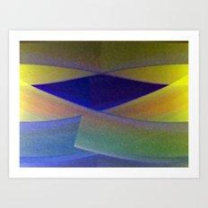 Blue Diamond Art Print