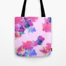 Printed Silk Rose Clouds Tote Bag
