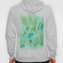 Soft Watercolor Floral Hoody
