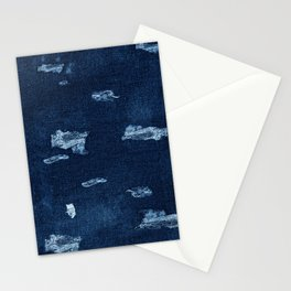 Patched Jeans  Stationery Cards