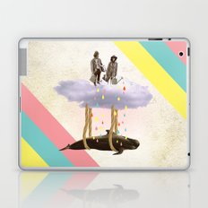couple who travels on a cloud with a whale  Laptop & iPad Skin