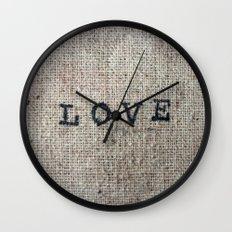 Vintage LOVE Wall Clock