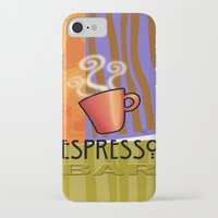 bar iPhone & iPod Cases featuring EXPRESSO BAR by Cheryl Daniels