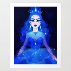Princess Blue Art Print