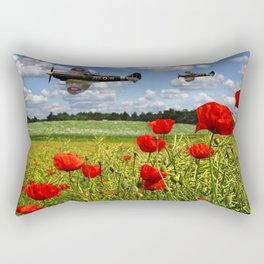 Spitfires and Poppy field Rectangular Pillow