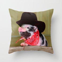 Puppy Cowboy Baby Piglet Farm Animals Babies Throw Pillow
