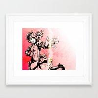 madoka Framed Art Prints featuring Madoka by Vaahlkult