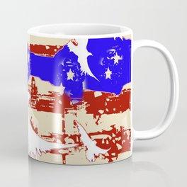 AMERICANA FLAG & WHITE EAGLES FROM  SOCIETY6 BY SHARLESART. Coffee Mug