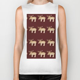 Reindeer queues #decor #buyart Biker Tank
