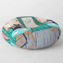 Paris Cafe for Cats Floor Pillow