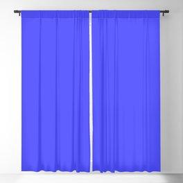 Bright Fluorescent Neon Blue Blackout Curtain