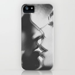 Two girls kissing iPhone Case
